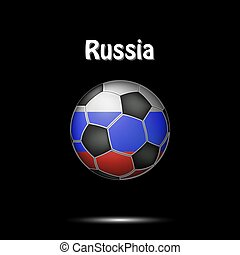 Flag of Russia as an soccer ball