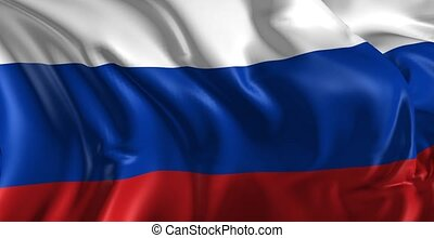 Flag of Russia - Beautiful 3d animation of The Russia flag...