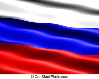 Flag of Russia - Computer generated illustration of the flag...