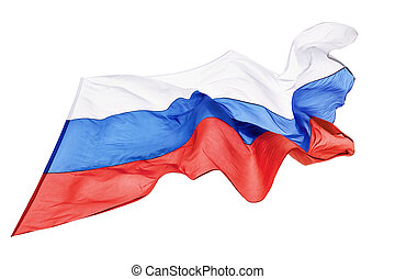 Flag of Russia - Flag Of The Russian Federation Fluttering...
