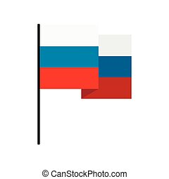 Flag of Russia icon, flat style