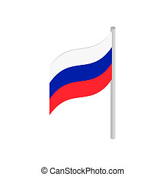 Flag of Russia isometric 3d icon