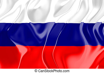Flag of Russia, national country symbol illustration