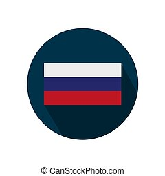Flag of russia on a white background. Vector illustration.