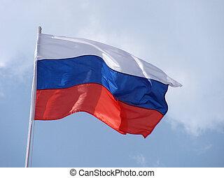 flag of Russia on flagstaff