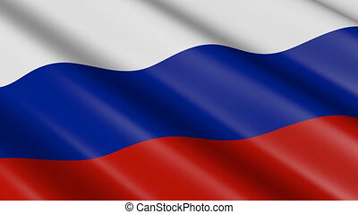 Flag of Russia/ Russian Federation (seamless loop)
