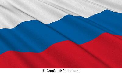 Flag of Russia, seamless loop