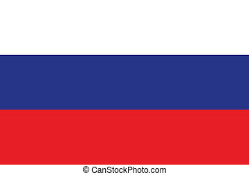 Flag of Russia. The colors of the original. Vector...