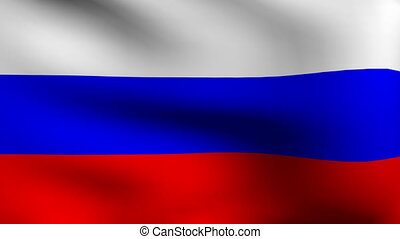 flag of russia wave animation