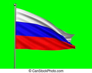 flag of Russian Federation loop-able 3d animation