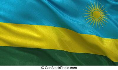 Flag of Rwanda seamless loop