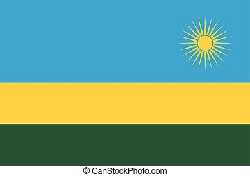 Flag of Rwanda. Vector illustration. World flag