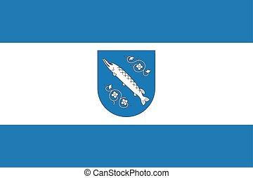 Flag of Rybnik, Poland. Vector Format.