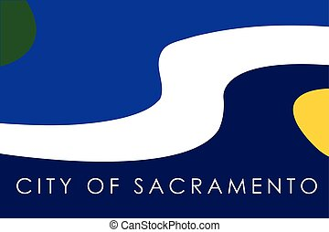 Flag of Sacramento, California, USA. Vector Format