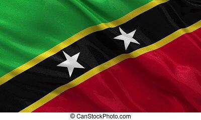 Flag of Saint Kitts and Nevis loop