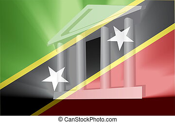 Flag of Saint Kitts and Nevis St. government - Flag of Saint...