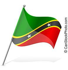 flag of Saint Kitts and Nevis vector illustration