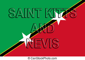Flag of Saint Kitts and Nevis Word