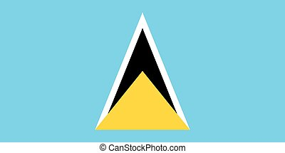 Flag of Saint Lucia in correct size, color, vector
