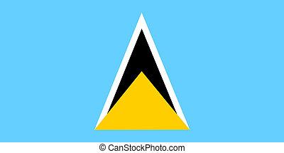 Flag of Saint Lucia, national country symbol illustration
