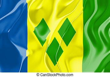 Flag of Saint Vincent and Grenadines, national country ...