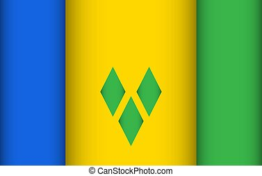 Flag of Saint Vincent and the Grenadines. Vector...