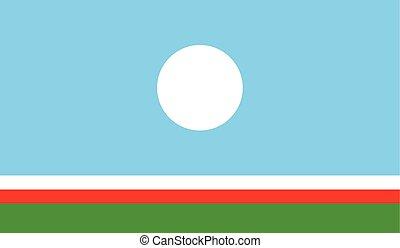 Sakha Rebublic flag vector illustration. created EPS 10