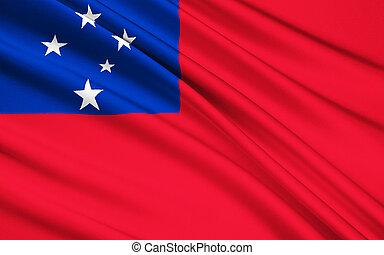 Flag of Samoa, Apia - Polynesia