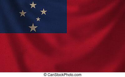 Flag of Samoa.