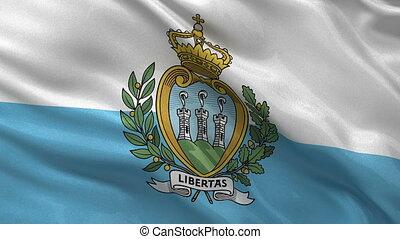 Flag of San Marino - seamless loop - Flag of San Marino...