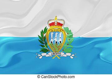 Flag of San Marino wavy - Flag of San Marino, national ...
