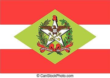 Flag of Santa Catarina State, Brazil. Vector Format