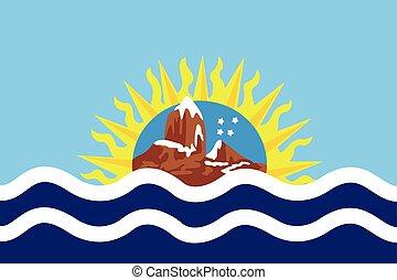 Flag of Santa Cruz Province, Argentina. Vector Format