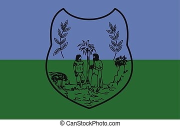 Flag of Sao Mateus, Brazil. Vector Format