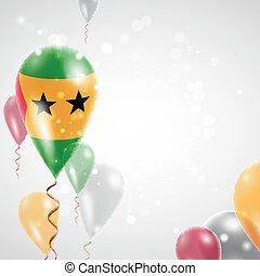 Flag of Sao Tome and Principe. Independence Day. Flag of...