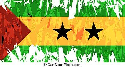 Flag of Sao Tome and Principe. - Flag of Sao Tome and...