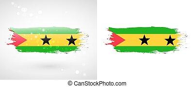Flag of Sao Tome and Principe. Independence Day. Flag...