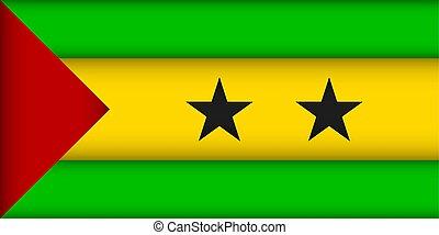 Flag of Sao Tome and Principe. Vector illustration....