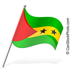 flag of Sao Tome Principe vector illustration isolated on...