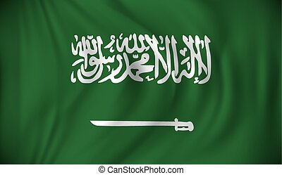 Flag of Saudi Arabia - vector illustration