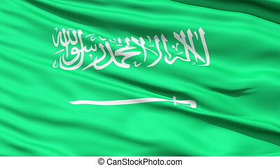 Flag of Saudi Arabia, looping. - Waving Flag of Saudi Arabia...