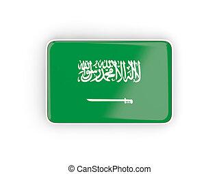 Flag of saudi arabia, rectangular icon