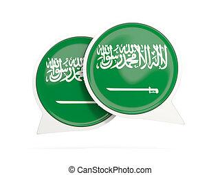 Flag of saudi arabia, round chat icon
