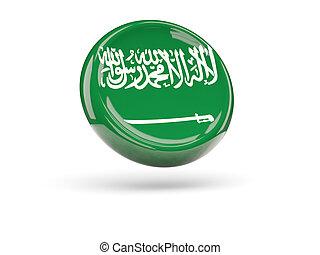 Flag of saudi arabia. Round icon