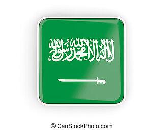 Flag of saudi arabia, square icon