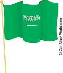 flag of  Saudi Arabia. vector