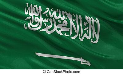 Flag of Saudi Arabia waving in the wind