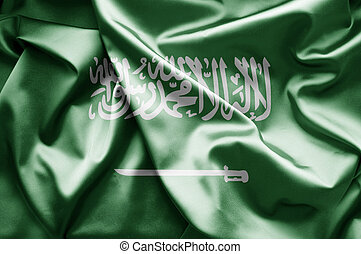 Flag of Saudi Arabia - World flags waving in the wind....