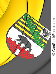 Flag of Saxony-Anhalt, Germany. - 3D Flag of Saxony-Anhalt,...