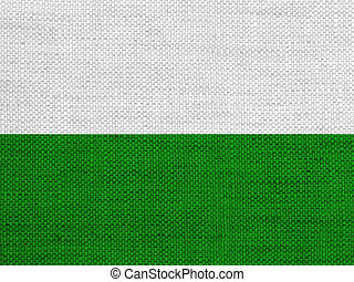 Flag of Saxony on old linen